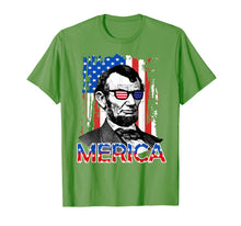 Load image into Gallery viewer, American Flag Shirt - Merica Abe Lincoln 4th of July T shirt