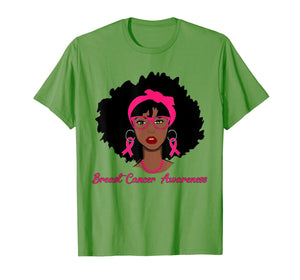 Breast Cancer Black Girl T-Shirt