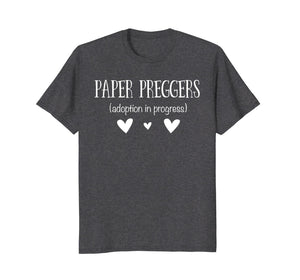 Paper Preggers Funny Adoption Pregnancy Family T-Shirt