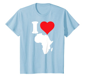 African pride I love Africa Africa map t-shirt