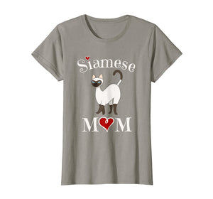 Adorable Siamese Mom T-Shirt, Funny Siamese Cat Mom Gift