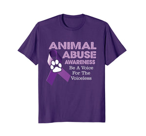 Animal Abuse Awareness T-Shirt Support Tee Apparel