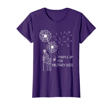 Load image into Gallery viewer, Purple Up for Military Kids T-Shirt Dandelion