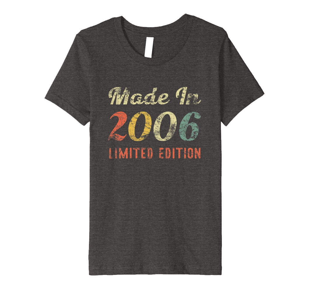 Born In 2006 13th Birthday Gift T Shirt For Boys & Girls