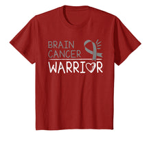 Load image into Gallery viewer, Brain Cancer Warrior T-Shirt Gray Awareness Ribbon