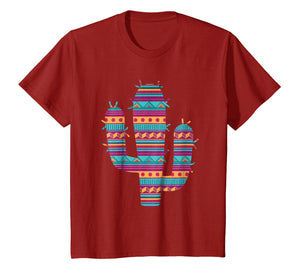 Serape Ethnic Mexican Spanish Style Cactus T-Shirt