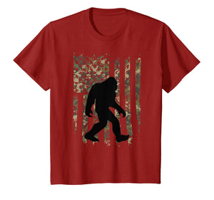 Bigfoot I Believe Sasquatch Patriot T-shirt American Flag