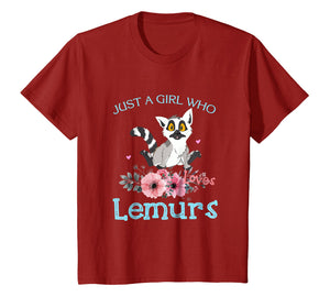 Just a Girl Who Loves Lemurs - Lemurs Lover T-Shirt