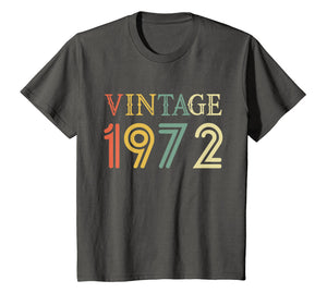 Retro Vintage 1972 T-Shirt 46 yrs old Bday 46th Birthday