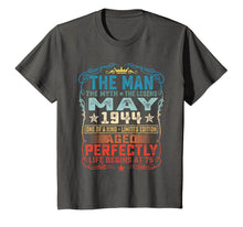 Load image into Gallery viewer, 75th Birthday Gifts T-Shirt Fun The Man Myth Legend May 1944