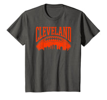 Load image into Gallery viewer, Cleveland Ohio Vintage CLE Skyline Retro Brown Game Day Gift T-Shirt