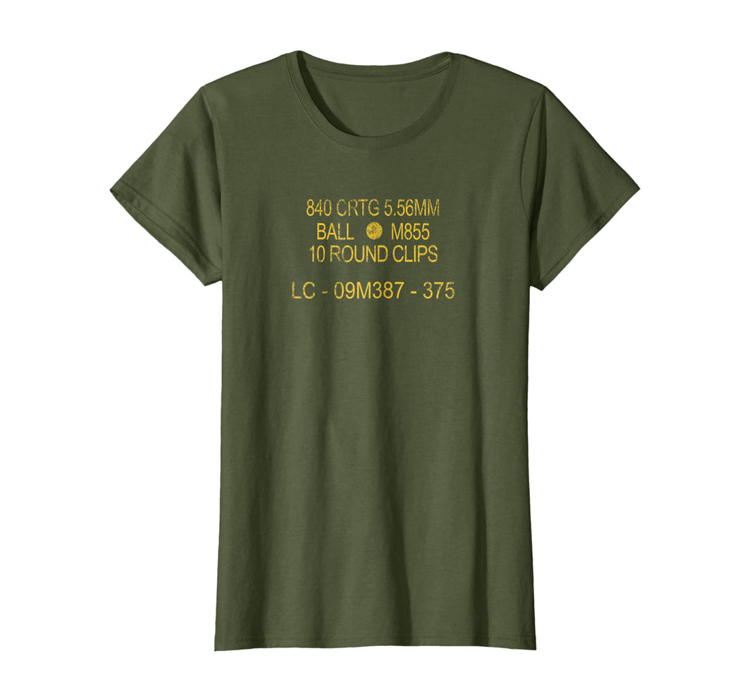 5.56 MM NATO US Military OD Green Ammo Can T Shirt!