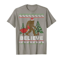 Load image into Gallery viewer, Christmas Sasquatch Santa Bigfoot Believe Yeti Xmas Gift Tee T-Shirt