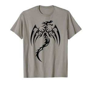 Sleek Dragons Shadow Graphic Design T-Shirt Dragon Gift