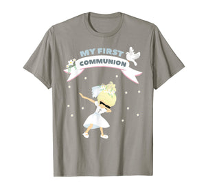 First Communion dabbing Shirt for blonde Girls 2019