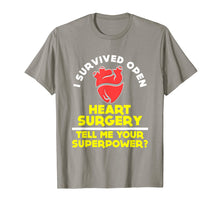 Load image into Gallery viewer, FUNNY SURVIVED OPEN HEART SURGERY T-SHIRT