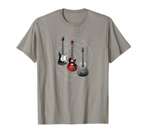 Electric Guitars Themed T-Shirt