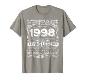 Vintage 1998 - Funny 21 Years Old 21st Birthday Gift T-Shirt