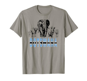 Big Five Botswana Pride T-shirt for Wildlife Lovers