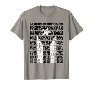 Puerto Rico Black Flag National Anthem Lyrics Letra TShirt