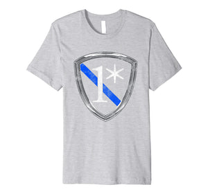 1 ASTERISK Thin Blue Line shirt - One Asterisk t-shirt
