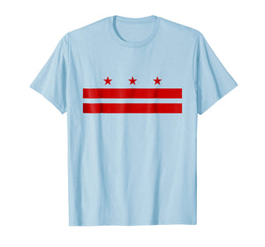 Patriotic State Flag of Washington D.C. T-Shirt