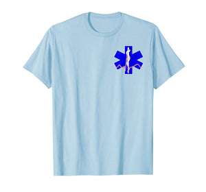 EMT EMS PARAMEDIC Star of Life CADUCEUS EKG T-Shirt