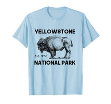 Load image into Gallery viewer, Hiking Yellowstone National Park Tee Shirt Bison Camping