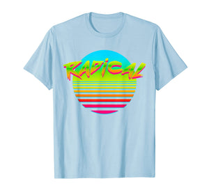 Radical Hot Sun Retro 80s 90s Vintage Outrun T-Shirt