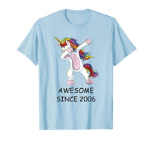 Load image into Gallery viewer, Awesome Since 2006 - Dabbing Unicorn 12th Birthday T-Shirt