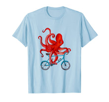 Load image into Gallery viewer, Octopus on bicycle Tee Shirt - Cycling octopus