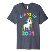 Load image into Gallery viewer, Class of 2031 First Grade Unicorn Back to School T Shirt