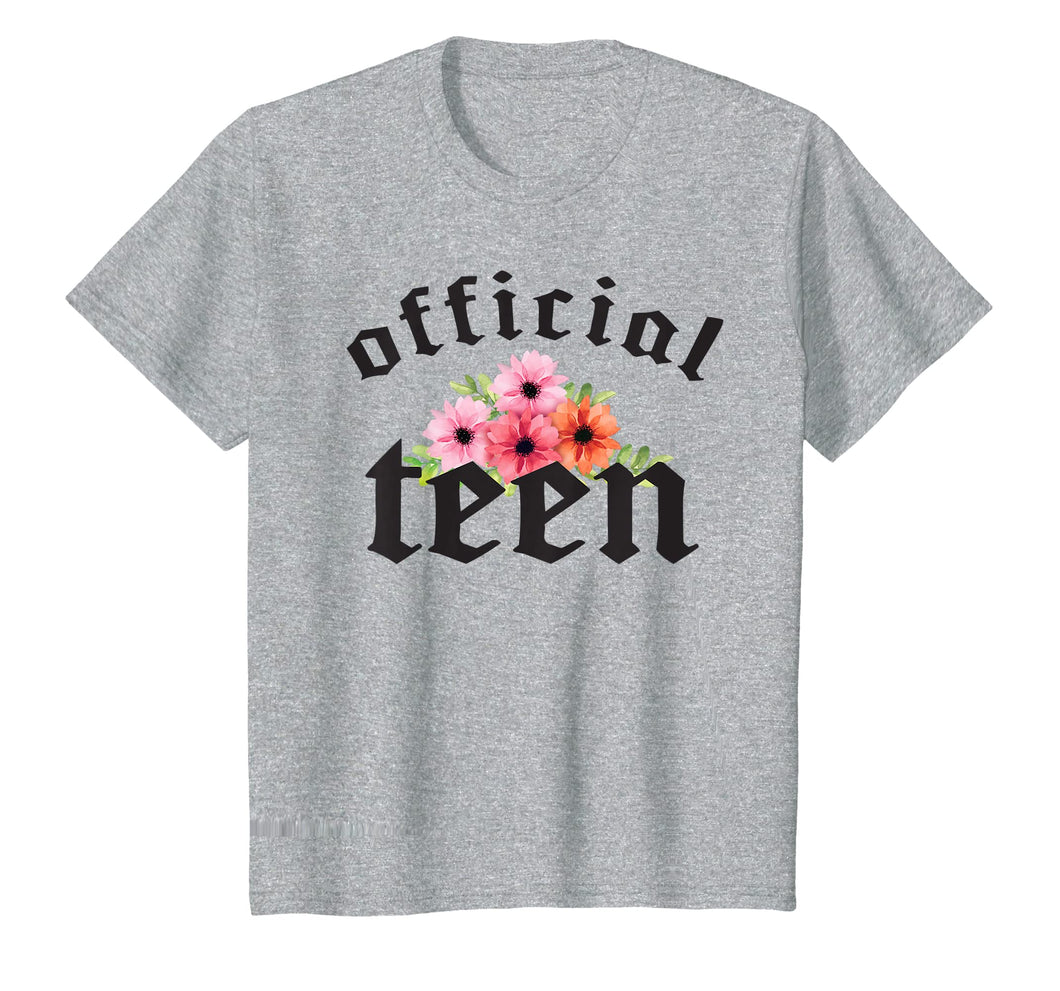 Teen girls gift 13th Birthday Shirt, Official Teenager