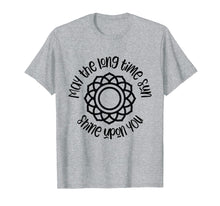 Load image into Gallery viewer, Kundalini Yoga Shirt May The Long Time Sun Shine Upon You