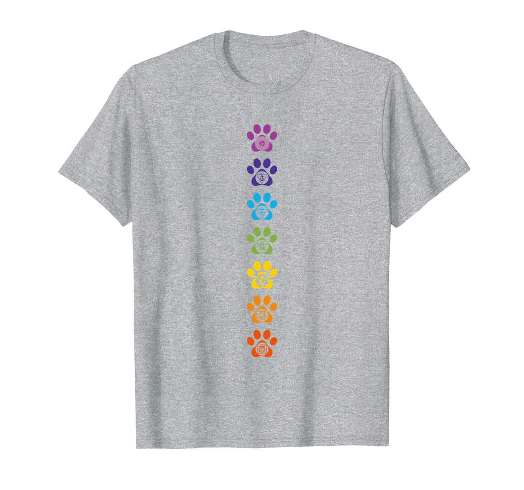 7 Chakras Puppy Paw Print Cute High Vibe Conscious T-Shirt