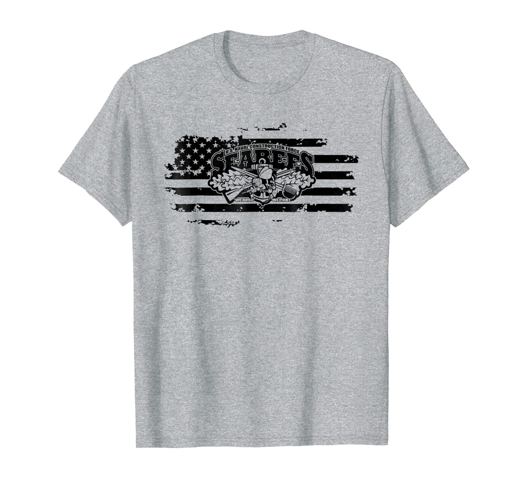 US Navy USN SeaBees Shirt Men Women Veterans Retired TShirt