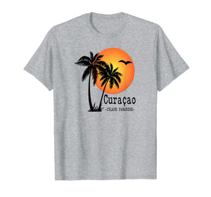 CURACAO Souvenir TShirt Holiday Travel Gift Island Sun Palm