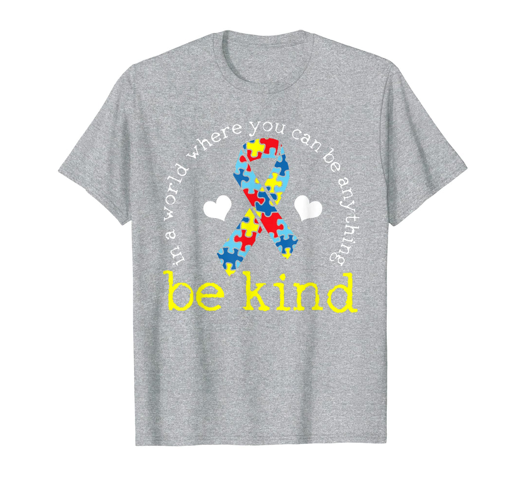 Autism Awareness Tshirt Kindness Puzzle Ribbon Heart T-Shirt