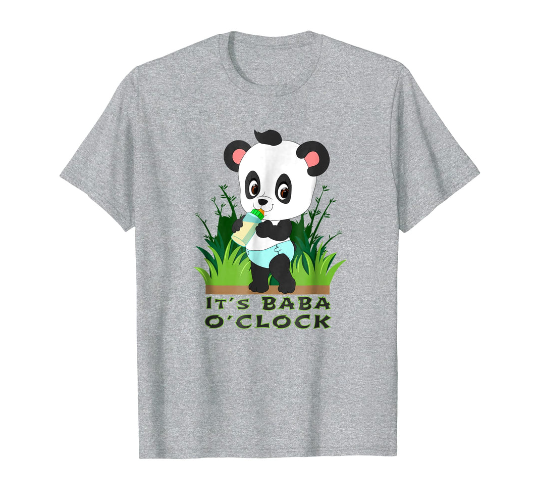 IT'S BABA O'CLOCK ABDL adult baby diaper lover Panda T Shirt