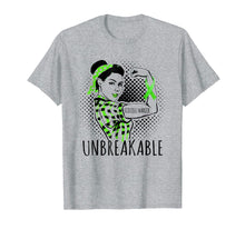 Load image into Gallery viewer, SCOLIOSIS WARRIOR IS UNBREAKABLE T SHIRT