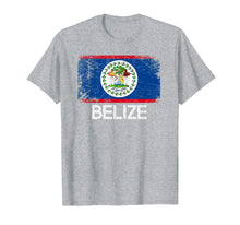 Load image into Gallery viewer, Belizean Flag T-Shirt | Vintage Made In Belize Gift
