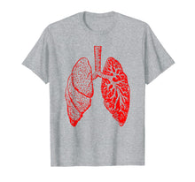 Load image into Gallery viewer, Anatomy Drawing Tshirt Pulmonologist, Respiratory Lungs Gift
