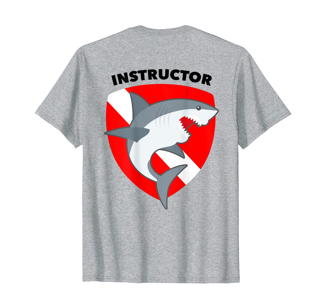 SCUBA Dive Flag Shark T-Shirt for Divemasters Instructors