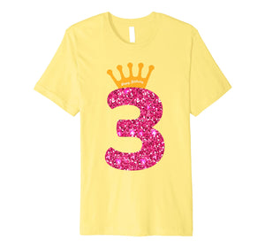 Happy Birthday Shirt, Girls 3rd Party 3 Years Old Bday