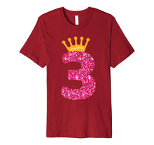 Afbeelding in Gallery-weergave laden, Happy Birthday Shirt, Girls 3rd Party 3 Years Old Bday