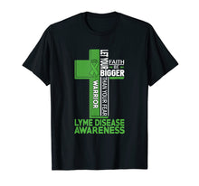 Afbeelding in Gallery-weergave laden, Lyme Disease Awareness Warrior Cross T Shirt