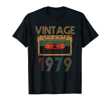 Afbeelding in Gallery-weergave laden, Happy 40th Birthday with Vintage 1979 T-Shirt