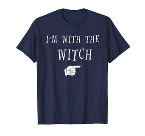 Men's Halloween Couples Costume T Shirt I'm With The Witch