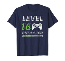 Afbeelding in Gallery-weergave laden, Level 16 Unlocked - 16 Year Old Gamer Funny Birthday T-Shirt
