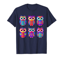 Afbeelding in Gallery-weergave laden, Owl Shirt - Love Owls Colorful Tshirt